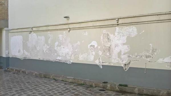 Ravalement mur platre rue du Theatre, Paris 01